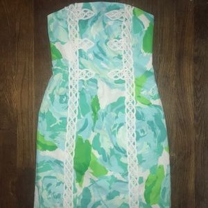Lilly pullitzer strapless dress